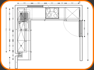 Technical Drawing Design of Kitchen